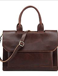 Women PU Sling Bag Shoulder Bag - Brown / Black