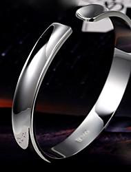 minimalistische fashion glossy concave opening duizend mooie zilveren armband S999