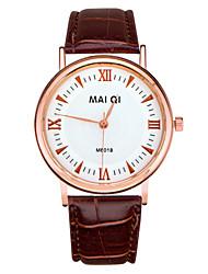 Herren-Lederband Quarz-Armbanduhr