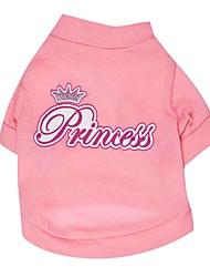 Gatos / Perros Camiseta Rosado Verano Tiaras y Coronas Moda, Dog Clothes / Dog Clothing-Other