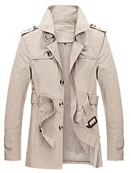 Men's Pan Collar Coats & Jackets Plus Size, Cotton Long Sleeve Casual / Work Fashion Winter Wshgyy