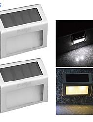 youoklight® 2pcs 0.2W 2-LED warmes weißes / Weiß Lichtsteuerung Solarwandlampe - Silber