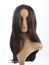 """Résistant à la chaleur perruque synthétique de cheveux longs de 2015 femmes de la mode ombre naturelle brune ondulée 3083- N ° 33 20 """""""