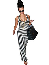 Women's Striped  Sleeveless Dress