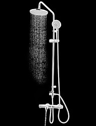 ENZORODI Shower System  Shower Faucet/ Rain Shower/ Handshower Included Brass Chrome ERF6165209CP-A