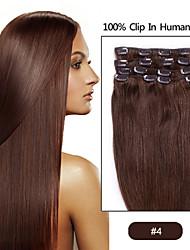 """15 20 extensiones de cabello """"18"""" clip de """"22"""" 7pcs en remy reales humanos rectos 24 colores para elegir el estilo de pelo de la belleza"""
