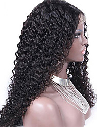 "Unprocessed 10""-24"" Virgin Brazilian Hair Natural Color Kinky Curly 130% Density Lace Front Wig Kinky Curl"