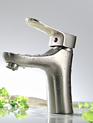 Brushed Nickel Bathroom Sink Faucet Lavatory Mixer Tall Body