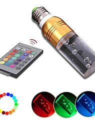 180 ° glans 3W rgb led e27 afstand bestuurde meerdere kleuren vervangende kaars lamp (ac86-265v)