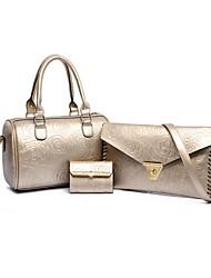 Women PU Messenger Shoulder Bag - White / Blue / Gold / Black