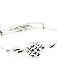 """Spiritual Armor"" Endless Knot Expandable Wire Bangle Bracelet (Internal Diameter :65mm)"
