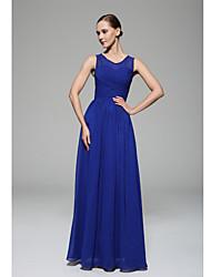 Floor-length Scoop Bridesmaid Dress - Elegant Sleeveless Chiffon