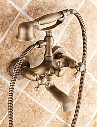 Traditional Antique Brass Bathtub Faucet