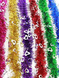 "3PCS/SET 200CM/78.4"" Christmas Decorations Fluffy Feather Boa Strip Fancy Dress Party Wedding Xmas Gift Random Color"