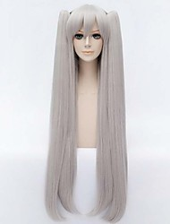 High Quality Gray Cosplay  Sythetic Wigs Style