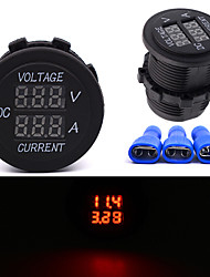 DC 12V-24V Digital Voltmeter Chargers Current Meter WaterProof Marine Car Boat Socket Boat Car Auto Motorcycle Trucks
