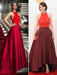 TS Couture Military Ball / Formal Evening Dress - Multi-color Plus Sizes / Petite A-line Halter Asymmetrical Jersey / Satin