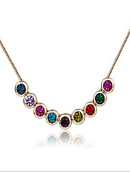 May Polly Gorgeous diamond necklace short charming temperament