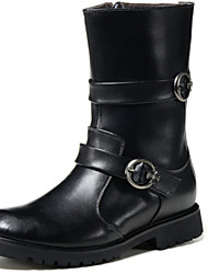 Men's Shoes Wedding / Party & Evening / Casual Leather Boots Black