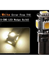 LOT T10 194 W5W LED 5-SMD 5050 CAN BUS ERROR FREE Car Wedge Side Light Bulb Lamp