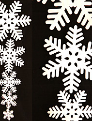 5PCS/Set White Snowflake Ice Strip Christmas Xmas Decoration Ornament Festival Party Window Decoration Home