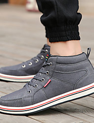Men's Shoes Outdoor / Athletic / Casual Canvas Fashion Sneakers Black / Blue / Gray