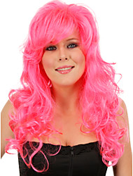 The New Animation Carved Pink Long Curly Hair Wig Top Quality