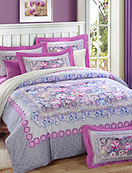 H&C 800TC Thicken 100% Cotton Sanding Fabric Duvet Cover Set 4-Piece Stripe Plaid Pattern For Autumn Winter TM082-086