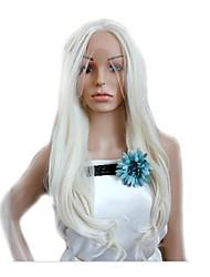 precio barato cosplay blanco pelucas sintéticas de onda larga