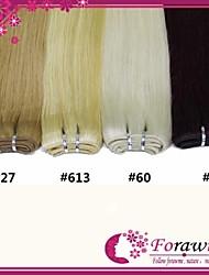 """100g / Bündel 18 """"24"""" # 1b # 4 Braun # 27 # 613 blonde Echthaar Haarverlängerungen gerade Menschenhaar-Webart"""