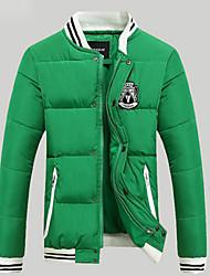 mildness Men's Stand Coats & Jackets , Cotton Blend Long Sleeve Casual Pocket Winter