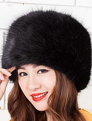 Women's Faux Fur Trapper Hat,Vintage Cute Casual Spring Fall Winter