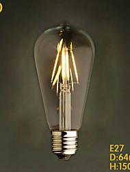 E27 4W  ST64LED Restaurant Decoration Bar Chandelier Retro Edison Imitation LED Tungsten Bulb