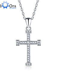 New Accessories C ross 925 Sterling Silver Women Fashion Cubic Zirconia Necklaces & Pendants