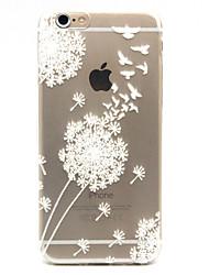iphone 7 плюс белый одуванчик рельефный рисунок TPU задняя крышка чехол для iphone 6с 6 плюс