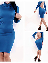 Women's Sexy Backless Long Sleeve Dress