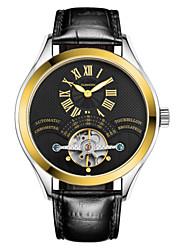 homens guanqin auto-liquidação relógio à prova d'água de 100m turbilhão luminosa safira oco relógio de cristal 38 milímetros automática