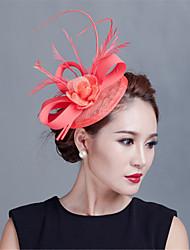 Women Wedding Party Sinamay Feather Fascinators Hats
