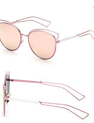 Sunglasses Women's Modern / Fashion Browline Silver / Gold Sunglasses Full-Rim
