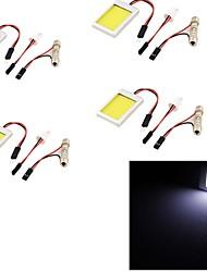 youoklight® 4pcs T10 feston 12w 1100lm 6000k lumière blanche a mené la lumière de l'ampoule de voiture (12v)