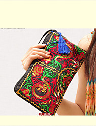 Chinese Style Embroidery Casual Purse (Chinese Dragon/Peony)