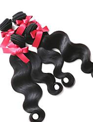 Peruvian Body Wave Hair Weaves Top Grade 4pcs/lot 1B Peruvian Virgin Hair 100% Unprocessed Body Wave Hair Extensions