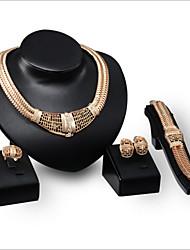 Fashion Diamond Jewelry Set Bride Accessories Four Sets