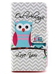 Owl always love you Design PU leather phone Case For LG Leon H340N
