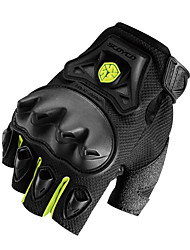 Outdoor Sportswear Protective Gear Cycling Racing Ridding Motocycle Half Finger Gloves Green -Scoyco