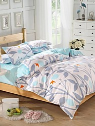 Mingjie® Silhouette Leaves Queen and Twin Size Sanding Bedding Sets 4pcs for Boys and Girls Bed Linen China