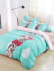 Baolisi Bedding Sets 4pcs Queen Size Girls Korean Love Bed