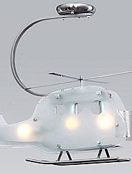 Simple Children Room lamp Cartoon Glass Helicopter lamp