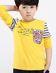 Camiseta Boy-Todas las Temporadas-Algodón-Estampado