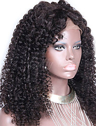 """Unprocessed 10""""-24"""" Virgin Brazilian Human Hair Natural Color Kinky Curly 150% Density Lace Front Wig"""
